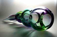 Leerdam glaskunst, geblazen door Gert Bullee naar ontwerp van Patrick de Keyzer