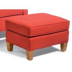 Sam Moore Mercury Ottoman Finish: Java, Upholstery: 2696 Ivory