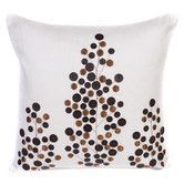 Found it at Wayfair - Linen and Leather Accent Pillow