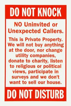 Do Not knock private property no soliciting no by customKraze