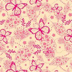 Pink Butterflies  fabric by oksancia on Spoonflower - custom fabric