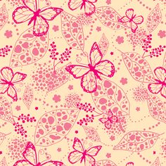 Pink Butterflies  fabric by oksancia on Spoonflower - custom fabric