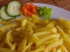 Sült krumpli, sült burgonya, hasábburgonya Onion Rings, Carrots, Vegetables, Ethnic Recipes, Food, Carrot, Vegetable Recipes, Eten, Veggie Food
