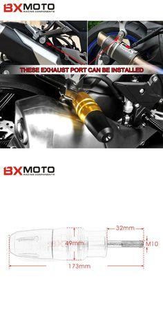[Visit to Buy] z800 Motorcycle Accessories parts Exhaust Sliders Crash Pads Protector For Kawasaki ninja z800 z250 z300 z 250 300 800 Motorbike #Advertisement