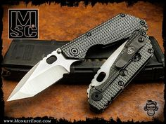 Strider Knives: Mick Strider Custom SNG Frag Grip Edition V4 - Extreme Tanto Half Stealth (DLC)