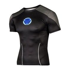 Iron Man Compressed T-shirt Breathable short-sleeved Shirt Men T-shirt Of  Fitness d17c04984