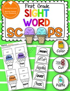 Sight Word Scoops (First Grade) from TheMoffattGirls on TeachersNotebook.com (16 pages)  - A super FUN and hands-on way to practice sight words!