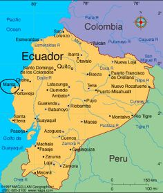 Map of ecuador ecuador south america ecuador map mapa de ecuador quito shell ecuador home for many years and the birth of three children gumiabroncs Gallery