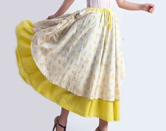 elegant and romantic   a beautiful summer skirt   It will give you diffent felling.    ❤❤Size❤❤   Please check the detail size before you place an ord