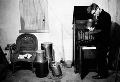 "theniftyfifties: "" James Dean playing records in his aunt and uncle's basement in Indiana, Photo by Dennis Stock for Life magazine "" Rosemary Clooney, Louise Brooks, Amy Winehouse, Steve Mcqueen, Juliette Greco, Dennis Stock, James Dean Photos, Erwin Olaf, Rebel Without A Cause"