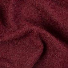Burgundy+Solid+Boiled+Wool