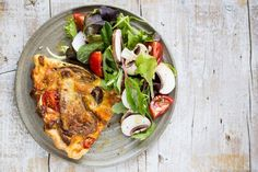 Pilz-Tarte mit Wildkräutersalat | Rewe 7xregional {Werbung} - culinary pixel…