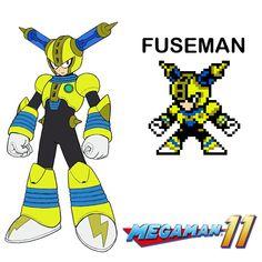 fuseman in 8bits (megaman 11)