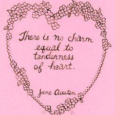 Jane Austen original art Charm Emma quote Regency por yardia