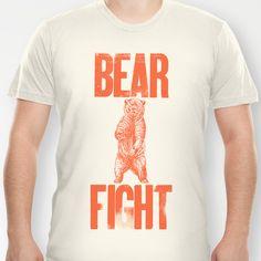 Bear Fight T-shirt by John Choura Jr.