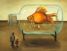Big Fish Painting by Leah Saulnier The Painting Maniac - Big Fish Fine Art Prints and Posters for Sale