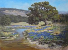 """""""Springtime in the Hill Country"""" 30x40"""" acrylic Stephen Williamson"""