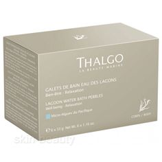 Thalgo Lagoon Bath Care Pebbles combine the relaxing power of their active ingredients with the pleasure of a lagoon-blue bath and aquatic aromas reminiscent of the atolls of the Polynesian islands.
