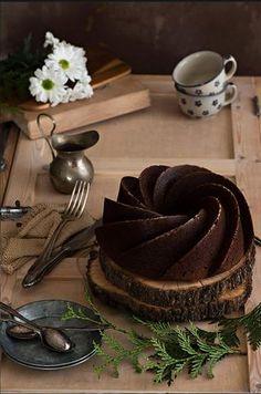 Bundt cake de cacao