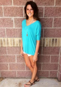 Piko v-neck short sleeve top w/ fitted sleeves-more colors