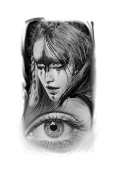 Eye tattoo, woman tattoo