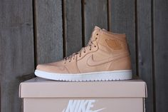 These ultra premium renditions give a luxurious glow to the already classic Air Jordan Retro Using premium vachetta tan leather base and burnished Bronze detailing on the lace-lock and heel tab. Custom Sneakers, Custom Shoes, Sneakers Nike, Air Force Jordans, Lit Shoes, Jordan Retro 1, Tan Leather, Me Too Shoes, Running Shoes