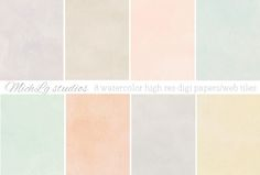 8 Watercolor web tiles & high res by michL g studios on Creative Market