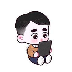HE FANART ARENT MINE on Instagra Exo Cartoon, Cartoon Fan, Dio Exo, Kyungsoo, Exo Fanart, Exo Stickers, Kpop, Exo Anime, Cute Drawings