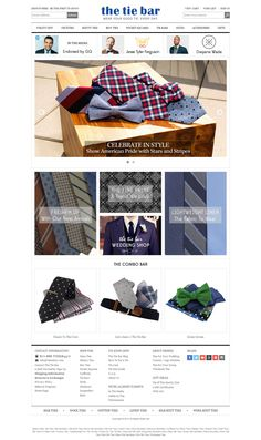 The Tie Bar Provides Handmade Silk Neckties, Discount Neckties, Mens Silk Neck Ties, Cufflinks, Affordable Ties, and Bowties.