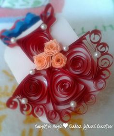 Quilling tutu dress gift tag ♥♥