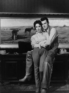 """""""Giant"""" Elizabeth Taylor, Rock Hudson 1955 Warner Brothers"""