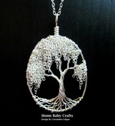 Willow Tree of Life collier OOAK Solid Sterling par HomeBabyCrafts
