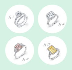 Engagement and wedding ring ideas | 100 Layer Cake