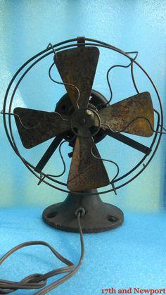 Vintage Industrial Metal Fan by 17thandnewport on Etsy, $29.99