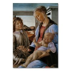 Madonna of the #Eucharist by #Botticelli Table #Card