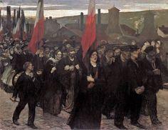 Jules Adler ( 1865-1952 ), La grève au Creusot, 1899,