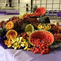 Your 2014 Party Planner Wedding Foods, Fruit Wedding, Wedding Menu, Wedding Reception, Fruit Tables, Fruit Buffet, Fruit Trays, Buffet Set Up, Styling A Buffet