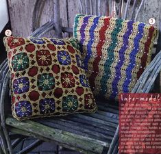 Подушки, подушки, подушки связанные крючком.