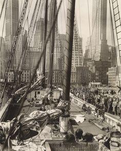 Theoline, Pier 11, East River, Manhattan, by Berenice Abbott - 20x200 (from $24)
