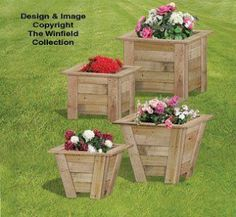 A Variety Of Planters Made From Pallets    ---  #pallets   ----     (Image courtesy of The Winfield Collection.  All Rights reserved.)