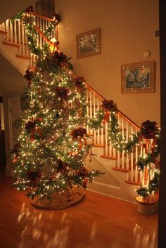 I always dreamed about the tree by the staircase and the kids coming down the stairs! #christmas #christmastree