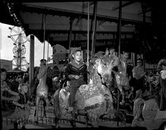 Carousel at the State Fair of Texas. 1950s