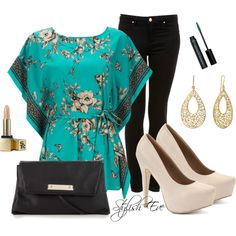 """Floral chic"" by stylisheve on Polyvore"