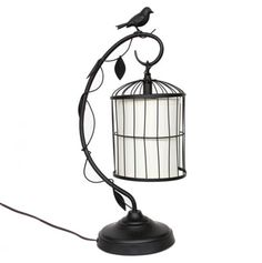 Hanging Birdcage Table Lamp.