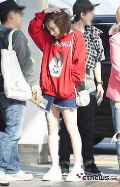 Snsd sunny airport fashion style