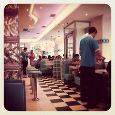 American Diner Restaurant Love The Checkered Floor And
