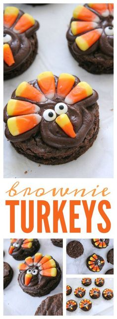 Brownie Turkeys! A fun Thanksgiving snack recipe for the Holidays!