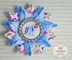 Set of Rainbow Dash  My Little Pony hair bow   by ZakolkinoCom