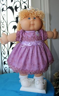 SOLD 90s Kids, Kids Girls, Cabbage Patch Kids Dolls, Cabbages, Barbie Stuff, Bitty Baby, Doll Clothes, My Design, Nostalgia