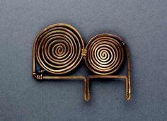 Brooch | Alexander Calder. 'Two Spiral'